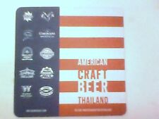 AMERICAN CRAFT BEER THAILAND - Beermat / Coaster  - 2 sided