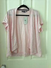 Gordon Smith Soft Pink Shrug Size XL Linen/Nylon