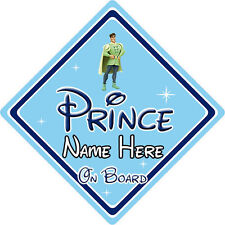 Personalised Disney Prince On Board Car Sign – Princess & The Frog Naveen