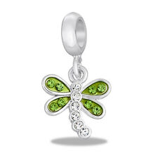 Davinci Beads Charm - GREEN DRAGONFLY Dangle - Buy 2 or More DaVinci and Save!