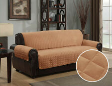 New Quilted Microsuede Pet Dog Couch Sofa Furniture Protector Cover Kashi Camel