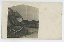 RPPC Fire Wreckage in LA PLATA MO Vintage Missouri Real Photo Postcard