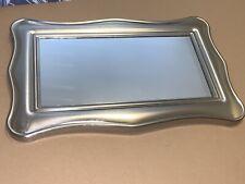 Vintage Medium Sized Rectangular Mirror Metal frame glass