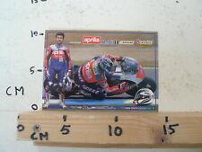 STICKER,DECAL LORIS REGGIANI APRILIA MOTO GP POSTCARD MOBIL 1 DUNLOP CHESTERFIEL
