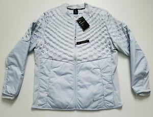 Nike Running AEROLOFT Standard Fit Full Zip Men's Jacket  Platinum  Size XL