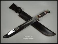 GERMAN LINDER BIG WESTERN BOWIE STAG HUNTING COLLECTORS KNIFE