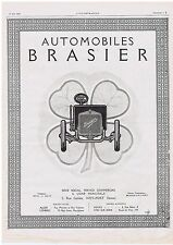 PUBLICITE ADVERTISING 044 1913 Automobiles BRASIER