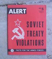 1962 Army Booklet ALERT Soviet Treaty Violations No. 5