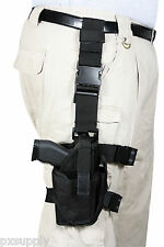 holster leg adjustable drop tactical deluxe black fits most 10752 rothco