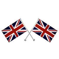 2 x Union Jack Window Car Flag United Kingdom Great Britain England Patriot
