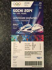Raro Olímpicos de Invierno Sochi 2014 Genuino ceremonia de clausura billete * como Nuevo *