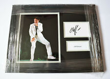 FRAMED CLIFF RICHARD HAND SIGNED PHOTO DISPLAY AUTOGRAPH MUSIC