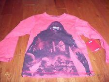 Star Wars Yoda Dark Side Longsleeve Boys Shirt Size Small 5 New Nwt Red