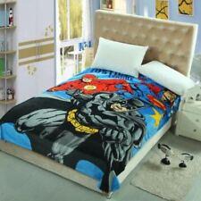 Batman Superman Flash Bettüberwurf Kuscheldecke Tagesdecke Microfaser Decke NEU