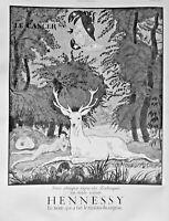 PUBLICITÉ DE PRESSE 1935 COGNAC HENNESSY - SIGNE DU ZODIAQUE - LE CANCER