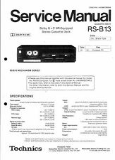 Technics Service Manual für RS-B 13