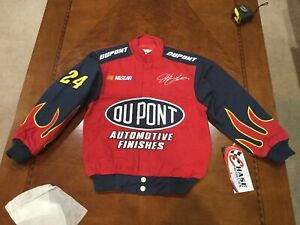 Vintage NASCAR JEFF GORDON Flames JACKET DUPONT Racing NWT Kids Size X-small