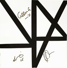 """NEW ORDER + 3 Signed Autographed Vinyl Insert """"MUSIC COMPLETE: NO"""" JSA # V77570"""