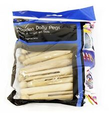 Confezione di 12 tradizionali in legno Dolly esegue il pegging per le linee di vestiti