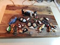 LARGE LOT OF 19 Ceramic, Plastic, And Wood Penguin Pins And Toys, Lot 10