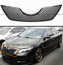 FOR 2007-09 TOYOTA CAMRY BLACK SPORT JDM 3D DIAMOND FRONT HOOD MESH GRILL GRILLE