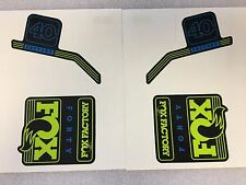 FOX Factory Series Fork 40 Blue /  Green Left & Right Decal Set 40mm Stickers