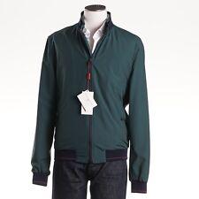 NWT $1395 LUCIANO BARBERA Tech Wool Windbreaker Jacket L (Eu 52) Forest Green