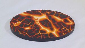 120X95mm Oval Lava resin base Unpainted X1 by Daemonscape