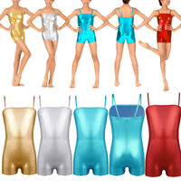 Kid Girl Ballet Gymnastics Leotards Dancewear Metallic Unitards Athletic Costume