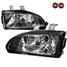 For 92-95 Honda Civic EG JDM Black Glass Headlights w/SiR City Light SI EX HB