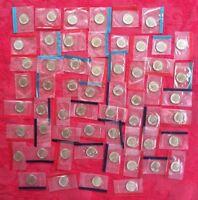 1968-1981 1984-1999 P + D BU Roosevelt Dimes Mint Cello Set Run 58 Coins