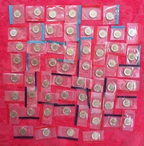 1968-1981 1984-1999 P + D BU Roosevelt Dimes Mint Cello Set 60 Coins Free Ship