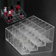 24 Lipstick Nail Polish Makeup Case Holder Rack Stand Cosmetic Organizer Holder