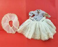 Vintage Madame Alexander Little Women Meg Purple Striped Doll Dress