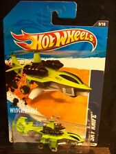 HOT WHEELS 2011 #179 -1 SKY KNIFE LIME AMER 11 CARD