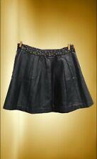 cfb0624b79 Falda negra de cuero