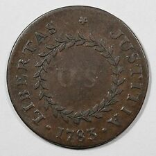 1783 C-2b Pointed Rays Small US Nova Constellatio Colonial Copper Coin