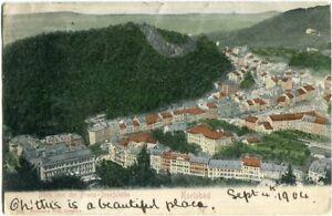 AK KARLSBAD /KARLOVY VARY Blick v.d. Franz-Josefshöhe 1904