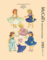 """Vintage McCalls 1983 - sewing pattern for 14-15"""" dolls - sweet sue, hubbard etc"""
