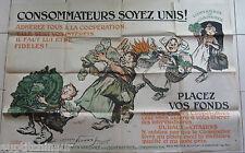 Affiche Consommateurs soyez unis ! Coopératives de consommation Maurice Neumont