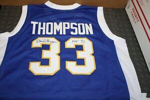 DAVID THOMPSON #33 SIGNED DENVER NUGGETS CUSTOM JERSEY HOF 1996 JSA CERTIFIED