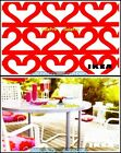 2x IKEA PORCH BRUNCH CHAIRS & TABLE LOVE IN THE AIR COLLECTIBLE GIFT CARD LOT For Sale