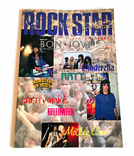 Rock Star Japan Magazine Photo Book 1987 w/Poster Bon Jovi Ratt Motley Crue