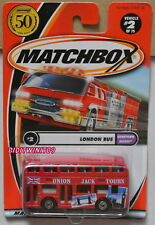 MATCHBOX 2001 LONDON BUS HOMETOWN HEROES #2 RED W+