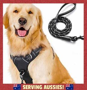 No-Pull Dog Harness Leash Set Heavy Duty Halter Harness with Leash  - AU