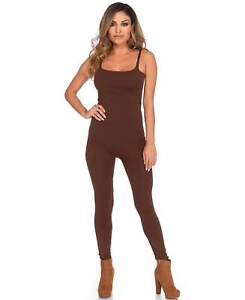 New Leg Avenue 3763 Brown Basic Tank Top Unitard Bodysuit