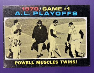 1970 AL Playoffs Fame 1 1971 #195 Topps Baseball Card - Very Good