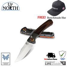 BENCHMADE Mini Crooked River Folding Hunt Knife Wood Handle 15085-2 SV30 Blade