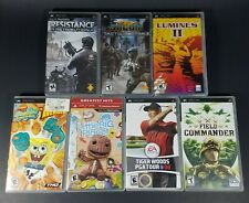 Sony PSP Games - Lot Of 7 Complete - Socom SpongeBob Little Big Planet