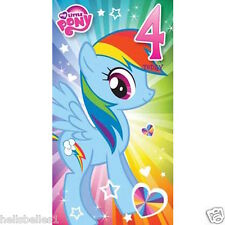 "OFFICIAL MY LITTLE PONY ""4TH"" BIRTHDAY CARD**FREE 1ST CLASS P&P**"